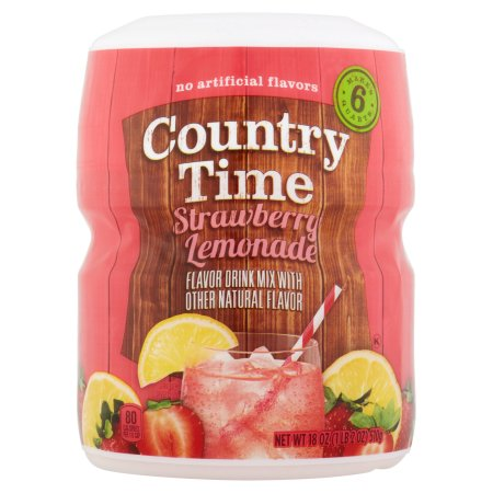 Country Time Strawberry Lemonade Drink Mix, 18 OZ (570g)