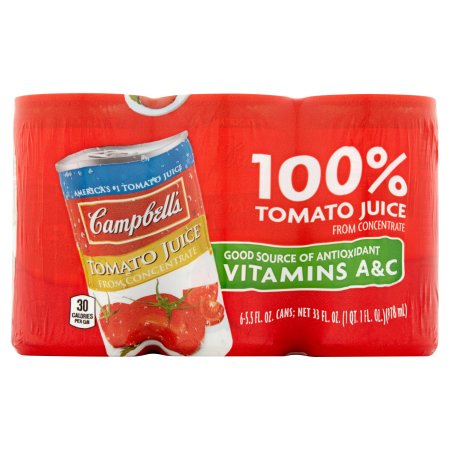 Campbell's 100% Tomato Juice 5.5oz 6 pack