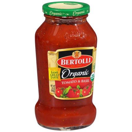 Bertolli® Organic Tomato & Basil Tomato Sauce 24 oz. Jar