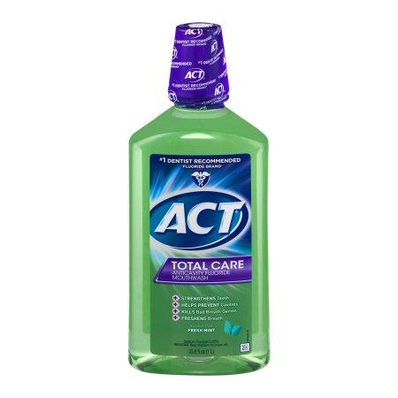 ACT Total Care Anticavity Fluoride Mouthwash Fresh Mint, 33.8 FL OZ