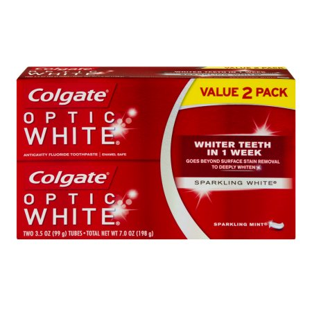 Colgate Optic White Icy Fresh Toothpaste Sparkling Mint - 2 CT