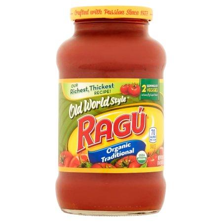Ragu Old World Style Organic Traditional Pasta Sauce, 23.9 oz