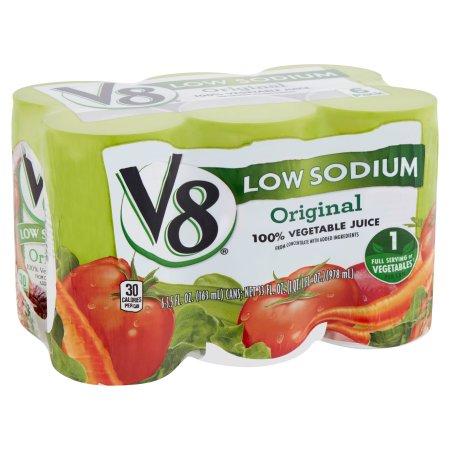 V8 Original 100% Vegetable Juice 6 x 5.5fl.oz (33fl.oz)