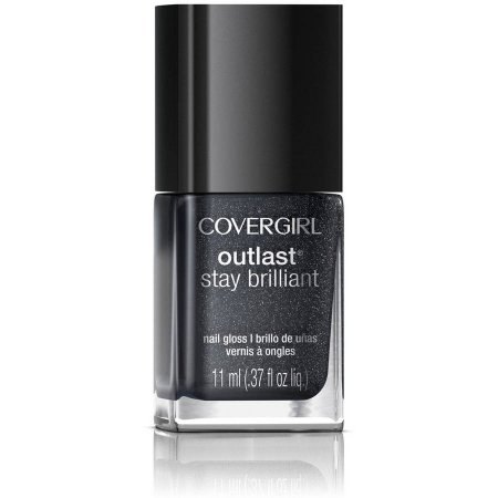 COVERGIRL Outlast Stay Brilliant Nail Gloss, 330 Diva After Dark, 0.37 fl oz