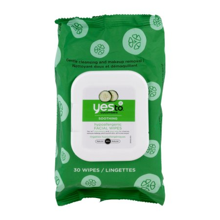 Yes To Cucumbers Hypoallergenic Facial Wipes Soothing - 30 CT