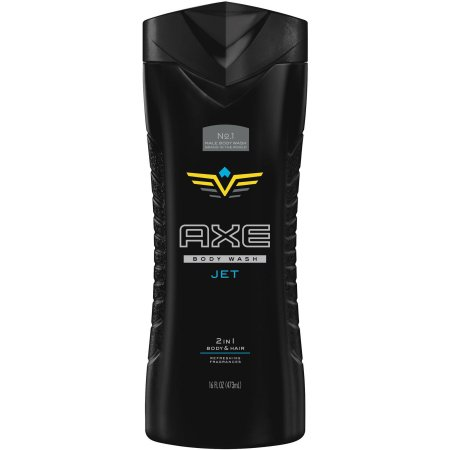 AXE Jet 2 in 1 Body Wash and Shampoo for Men, 16 oz