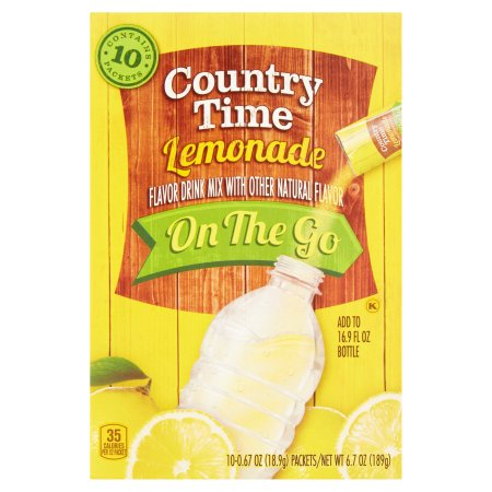 Country Time Lemonade Drink Mix On The Go, 10 count, 6.7 OZ (189g)