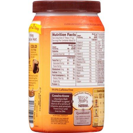OVALTINE Chocolate Malt Flavored Milk Mix 12 oz. Canister