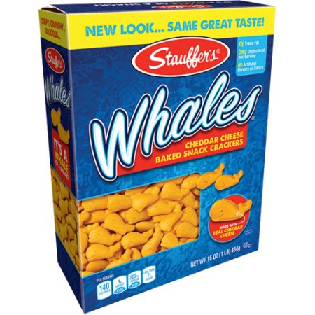 Stauffer's Whales Baked Snack Crackers, 16 oz