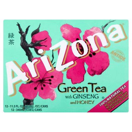 AriZona Green Tea With Ginseng And Honey - 12 PK, 11.5 FL OZ