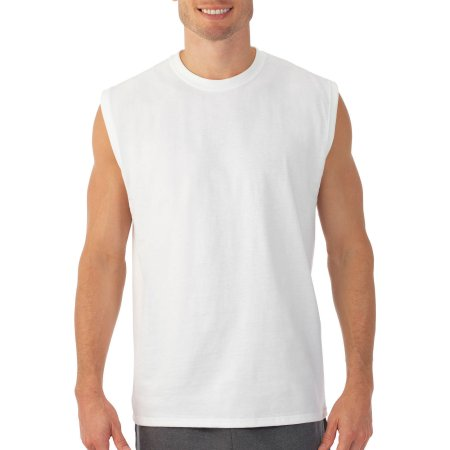 Fruit of the Loom Big Men's Muscle T-Shirt with Rib Trim