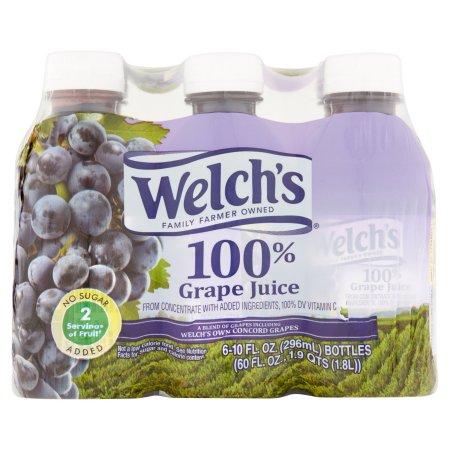 Welch's Single Serve 100% Grape Juice, 6 Ct/60 Fl Oz