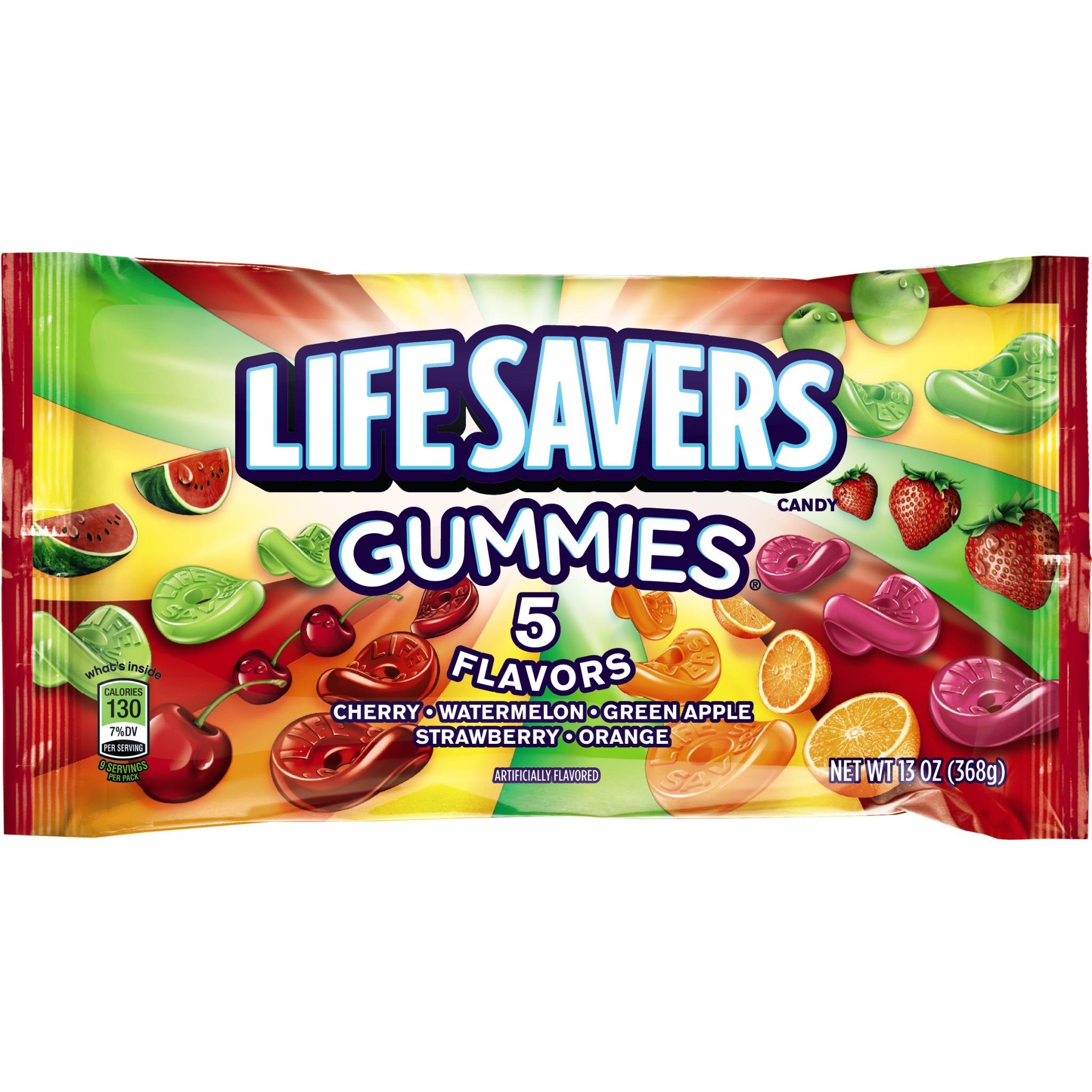 Life Savers 5 Flavors Gummies Candy Bag, 13 ounce