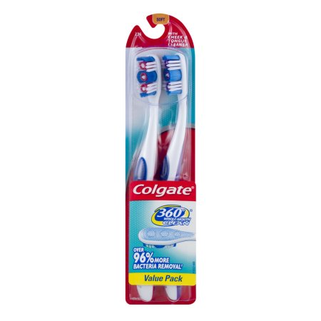 Colgate 360 Whole Mouth Clean Toothbrush Value Pack Soft - 2 PK, 2.0 PACK