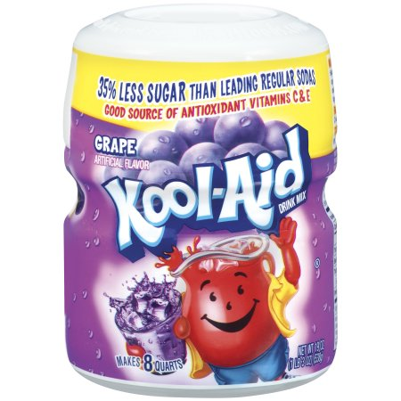 Kool-Aid Grape Drink Mix, 19 OZ (538g) Canister