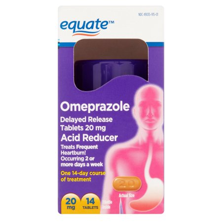 Equate Omeprazole Tablets, 14 count