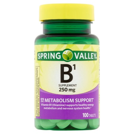 Spring Valley: Natural Metabolism Support B1 Vitamin Dietary Supplement, 100 Ct
