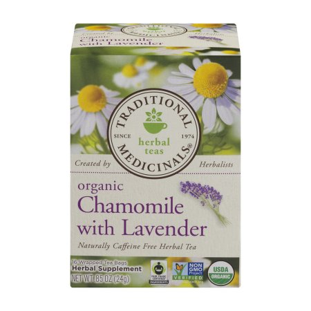 Traditional Medicinals Herbal Teas Organic Chamomile With Lavender Tea Bags - 16 CT