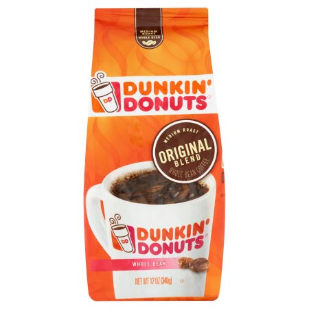 Dunkin' Donuts Original Blend Medium Roast Whole Bean Coffee, 12.0 OZ