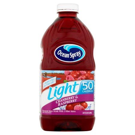 Ocean Spray Light Light Cranberry & Raspberry Juice Drink 64 Oz Plastic Bottle
