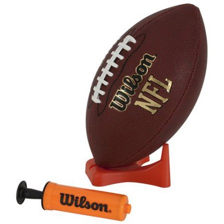 Wilson NFL Jr Tailgate Time Football with Pump and Tee
