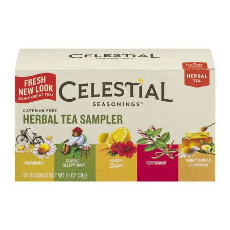 Celestial Seasonings Herbal Tea Sampler - 18 CT