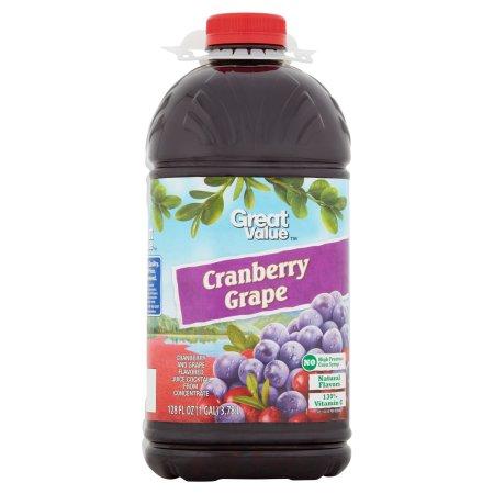 Great Value Grape Cranberry Juice Cocktail, 128 fl oz