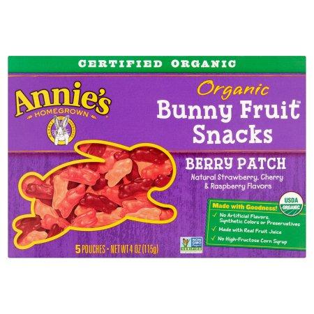 Annie's Gluten Free Organic Berry Patch Fruit Snacks 5 ct 4 oz