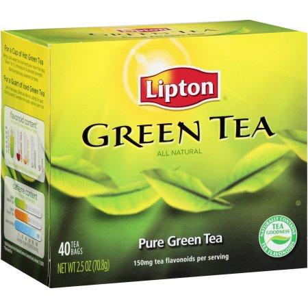 Lipton Natural Green Tea Bags, 40 ct