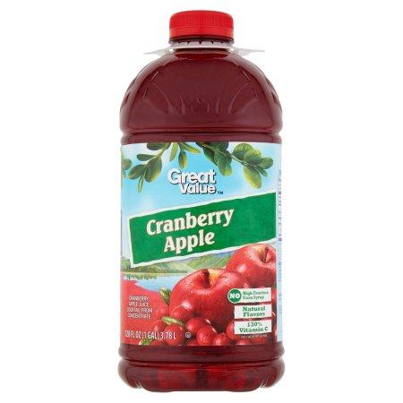 Great Value Cranberry Apple Juice, 128 fl oz