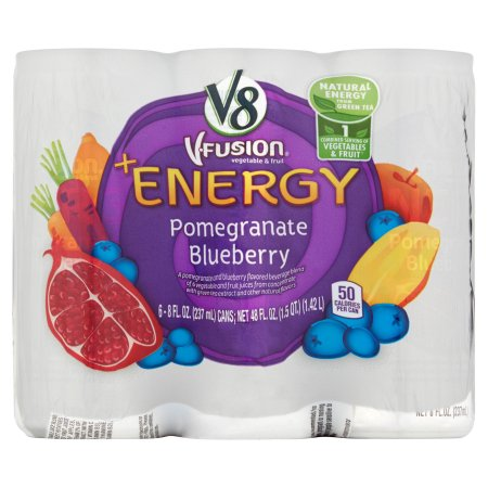V8 V-Fusion Pomegranate Blueberry +Energy 6 x 8 fl. oz (48 fl. oz)