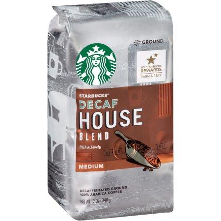 Starbucks® Medium House Blend Decaffeinated Ground Coffee 12 oz. Bag