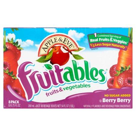 Apple & Eve® Fruitables® Fruits & Vegetables Berry Berry Juice Beverage 8 ct Pack