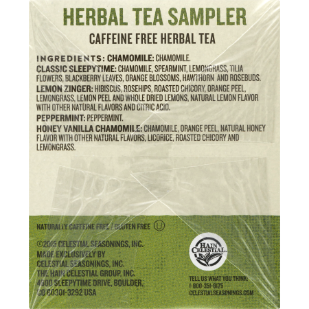 Celestial Seasonings Herbal Tea Sampler - 18 CT