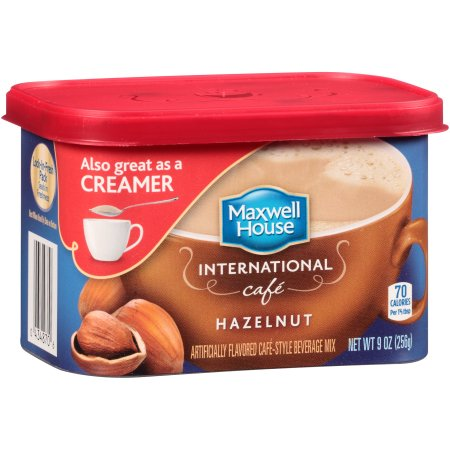 Maxwell House Hazelnut International Cafe Beverage Mix, 9 OZ (256g) Tub