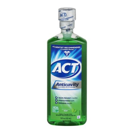 ACT Mint Anticavity Flouride Mouthwash, 18 oz.