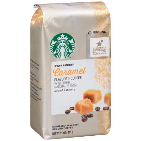 Starbucks® Caramel Flavored Coffee with Other Natural Flavor Smooth & Buttery 11 oz. Package