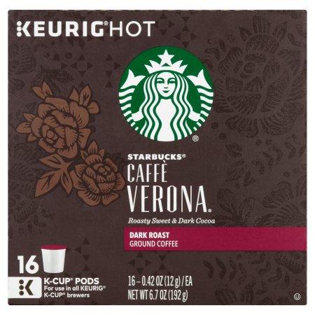 Starbucks® Caffe Verona Dark Ground Coffee K-Cups 16 ct Box