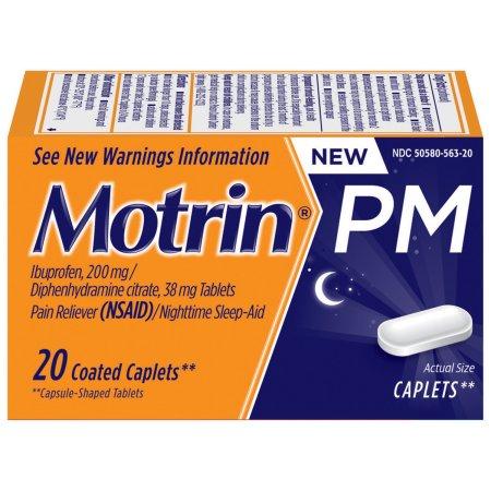 Motrin PM Caplets, 20 Count