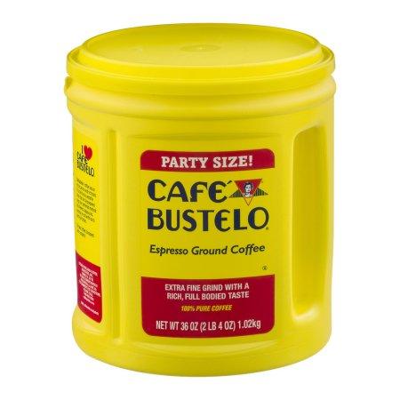 Cafe Bustelo Espresso Ground Coffee Party Size, 36.0 OZ