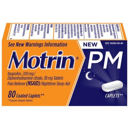 Motrin PM Caplets, 80 Count