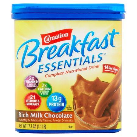 Carnation Breakfast Essentials Complete Nutritional Drink Rich Milk Chocolate, 17.7 OZ