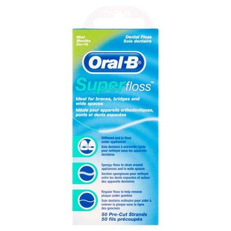 Oral-B Super Floss, Mint, 50 Count