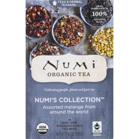 Numi Organic Assorted Tea Bags Numi's Collection, 18.0 CT