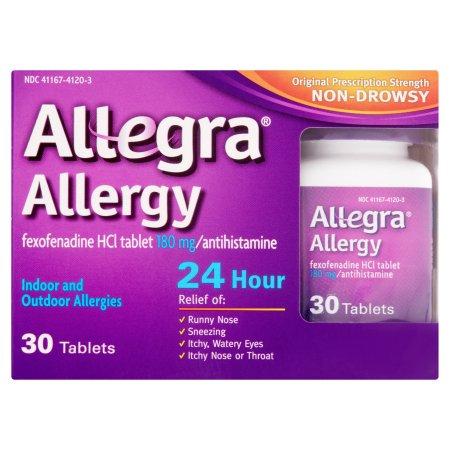 Allegra Allergy 24 Hour Antihistamine Tablets, 30 count