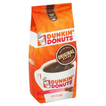 Dunkin' Donuts Original Blend Medium Roast Whole Bean Coffee, 12.0 OZ