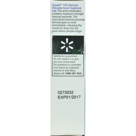 Equate Beauty 10 Benzoyl Peroxide Acne Treatment Gel 1 Oz