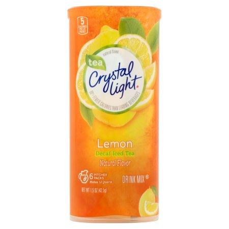 Crystal Light Lemon Tea Decaf Drink Mix Pitcher Packs, 6 count, 1.5 OZ (42.5g)