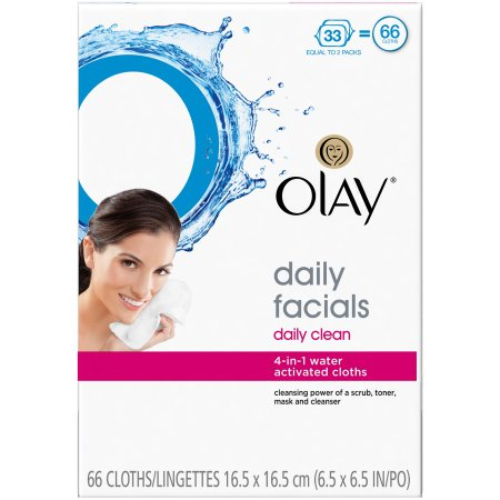 Olay 4-in-1 Daily Facial Cloths, Normal Skin, 66 count