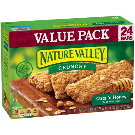 Nature Valley™ Oats 'n Honey Crunchy Granola Bars 12-2 ct Pouches